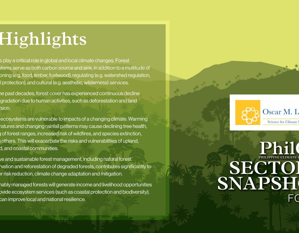 2020 PhilCCA Sectoral Snapshots: Forests